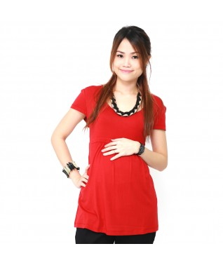 Round Neck Flared Top