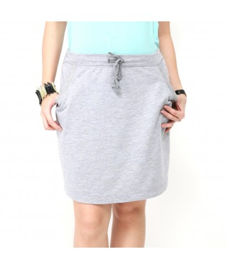 Drawstring Above Knee Skirt