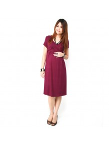 Cross Front Cap Sleeved Dress