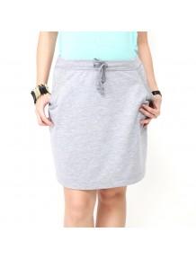 Drawstring Above Knee Skirt